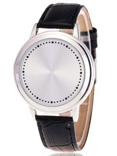 Faux Leather LED Watch - White