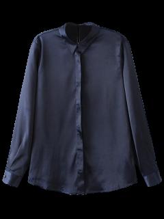 Satins Formal Shirt - Cadetblue S