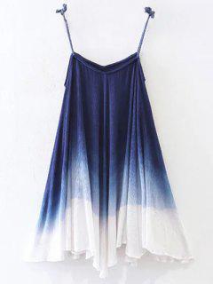Vestido De Resbalón Ombre Trapecio - Azul Purpúreo L