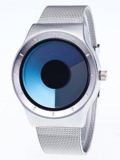 Reloj De Cuarzo Metálica De Malla De Color De Gradiente  - Azul