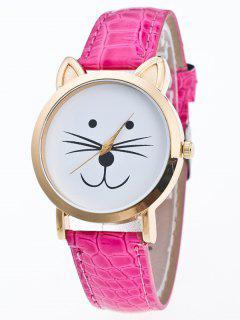 Faux Leather Cartoon Cat Watch - Tutti Frutti