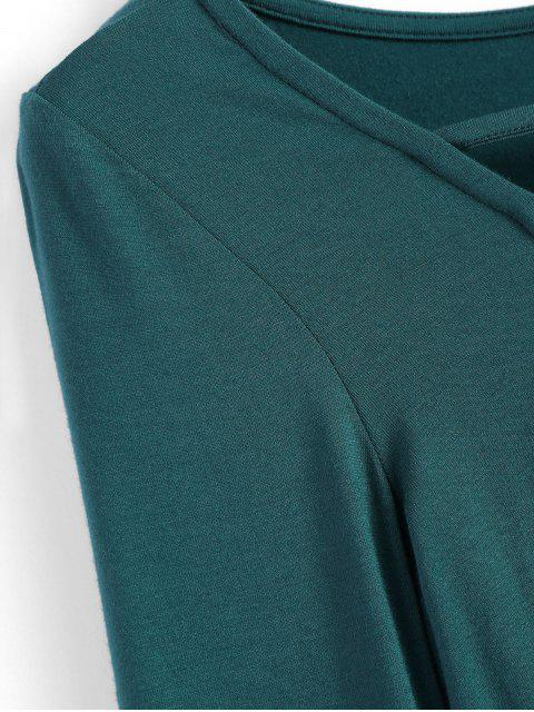 new Cropped Plunge Tee - GREEN M Mobile