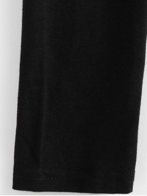 outfits Cropped Plunge Tee - BLACK XL Mobile