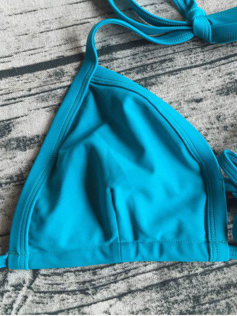 shops Cut Out Banded Plunge Bikini - LAKE BLUE M Mobile