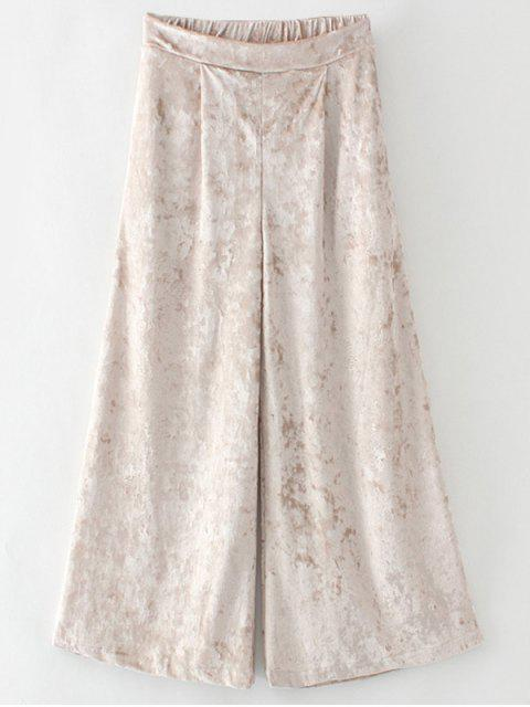 chic Loose Velvet Wide Leg Pants -   Mobile