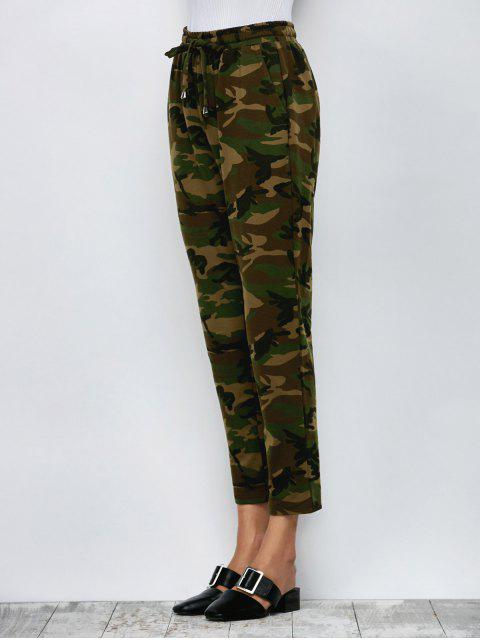 hot Camo Drawstring Pants - ARMY GREEN L Mobile