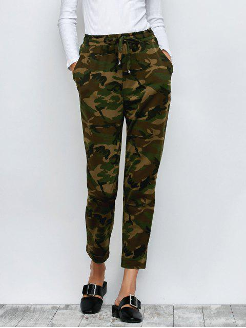 new Camo Drawstring Pants - ARMY GREEN XL Mobile