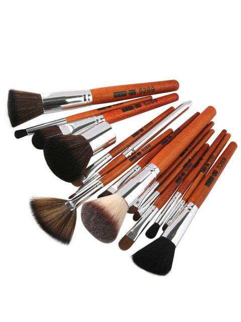 new 15 Pcs Portable Makeup Brushes Set - SILVER  Mobile