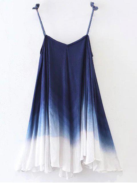 outfit Ombre Trapeze Slip Dress - PURPLISH BLUE M Mobile