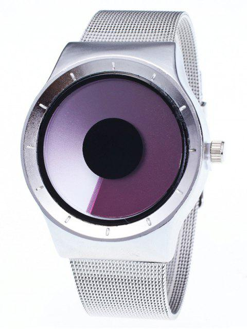fancy Metal Mesh Ombre Quartz Watch - PURPLE  Mobile