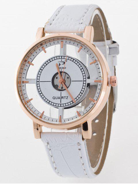 lady See-Through Quartz Watch - WHITE  Mobile