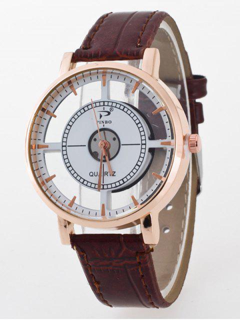 best See-Through Quartz Watch - COFFEE  Mobile