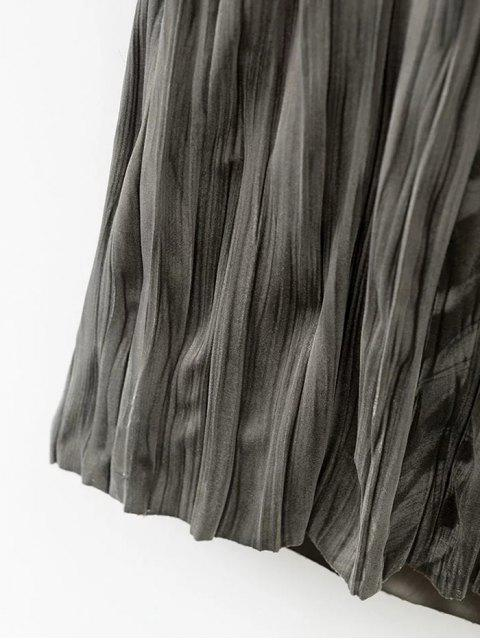 shops Crushed Velvet Slip Dress - GREY OLIVE S Mobile