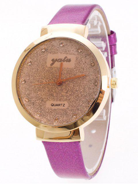 outfits Rhinestone Glitter Quartz Watch - PURPLE  Mobile