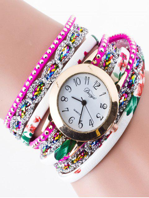 fashion Rhinestone Wrap Bracelet Watch -   Mobile