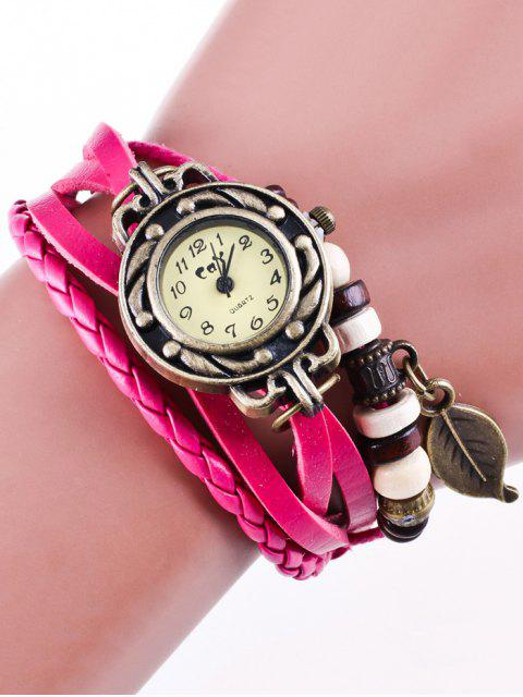 hot Faux Leather Strand Bracelet Watch - TUTTI FRUTTI  Mobile