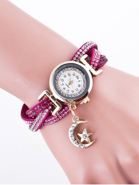 shop Rhinestone Studded Bracelet Watch - TUTTI FRUTTI  Mobile