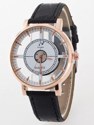 Reloj Cuarzo Cuero Artificial Transparente