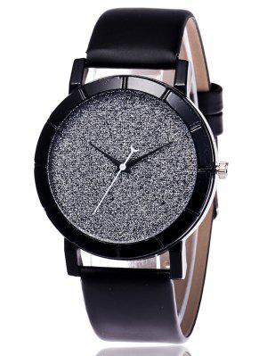 Kunstleder Glitter analoge Uhr