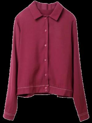 Pespontos Tigre Shirt - Vinho Vermelho M