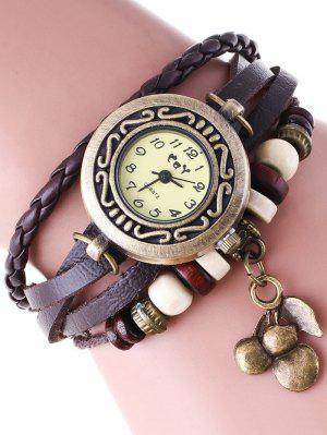 Montre bracelet en faux cuir