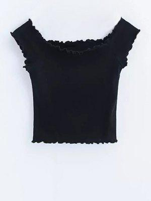 Off Shoulder Ruffles Crop Top