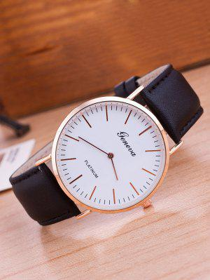 Faux Leather Band Analog Wrist Watch
