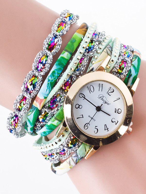 Rhinestone Wrap Bracelet Watch