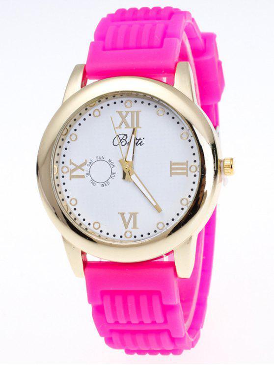 سيليكون الأرقام الرومانية كوارتز ساعة - نوع من انواع الحلويات يدعى توتي فروتي