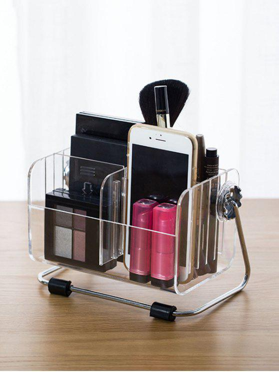 outfit Desktop Container Makeup Organizer - TRANSPARENT