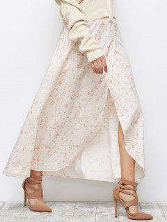 Falda Asimétrica Floral Raja - Rosa Xl