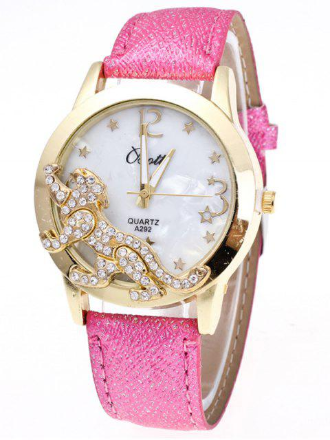 new Faux Leather Leopard Quartz Watch - TUTTI FRUTTI  Mobile