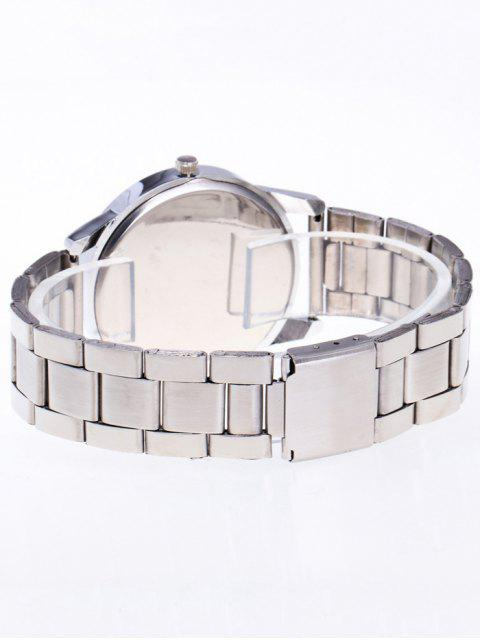 chic Rhinestone Butterfly Number Watch - SILVER  Mobile