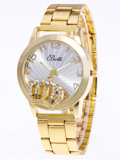 ladies Rhinestone Crown Number Watch -   Mobile