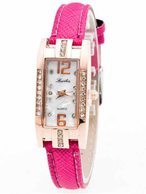 buy Faux Leather Rhinestone Rectangle Watch - TUTTI FRUTTI  Mobile