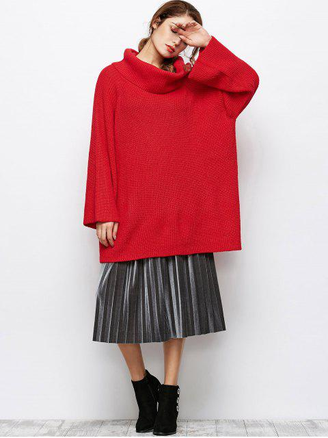 buy Oversized Chunky Sweater - RED S Mobile
