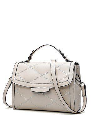Rhombic Kunstleder-Handtasche