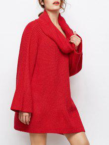 Oversized Chunky Sweater - Red S