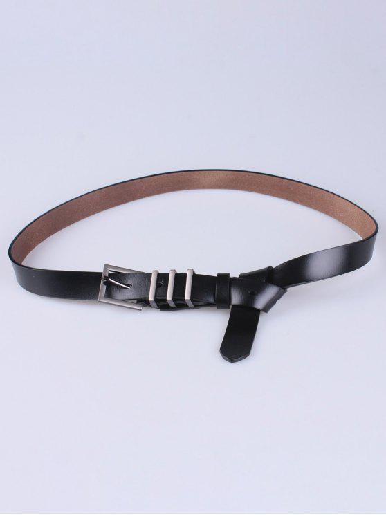 Pin de la aleación hebilla de cinturón - Negro