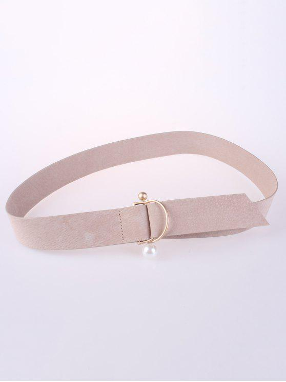 hot D Buckle Faux Suede Waist Belt - LIGHT CAMEL