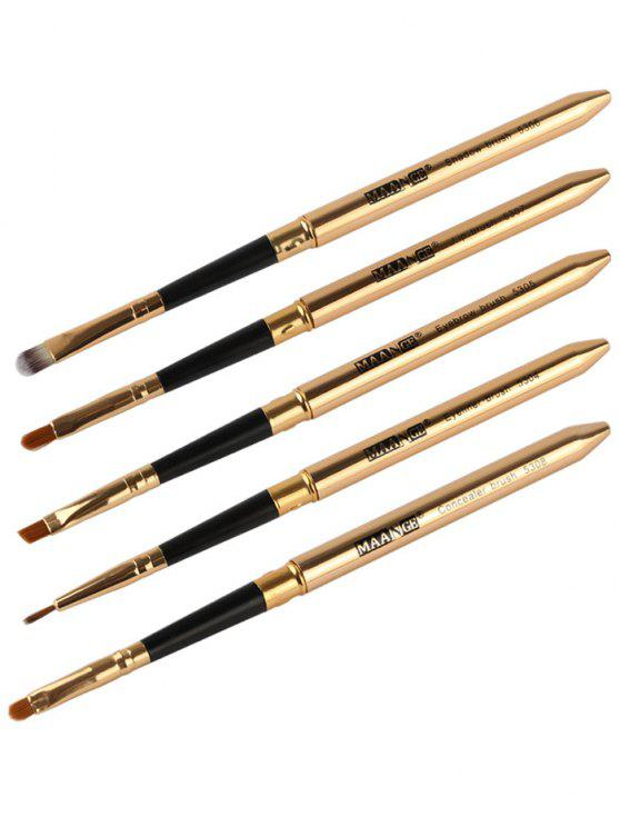 outfit 5 Pcs Covered Makeup Brushes Set - GOLDEN