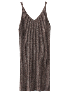 Knitted Tank Dress - Coffee