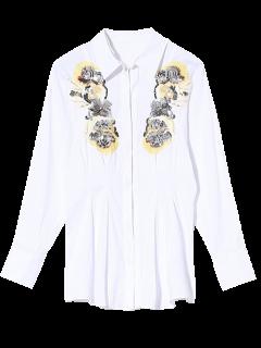 Brodé Pailleté Shirt - Blanc S