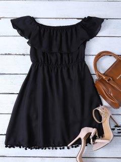 Riza El Mini Con El Vestido De Hombro - Negro L