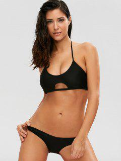 Casual Cutout Bikini Set - Black S