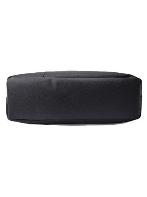 chic Wood Ball Tassel Shoulder Bag With Wristlet - BLACK  Mobile