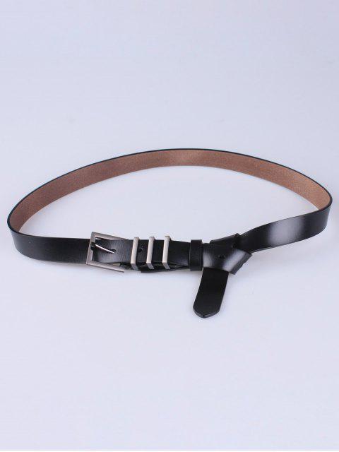 affordable Alloy Pin Buckle Belt - BLACK  Mobile