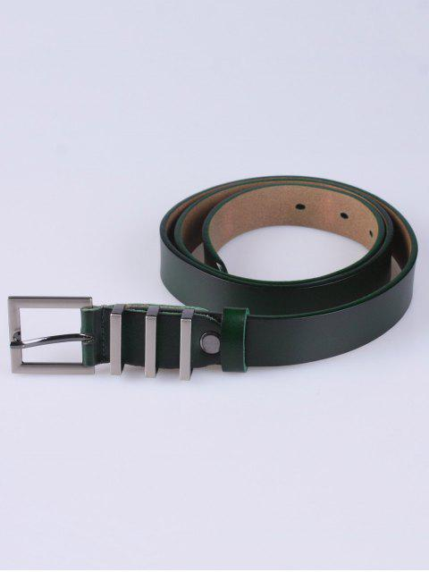 buy Alloy Pin Buckle Belt - BLACKISH GREEN  Mobile