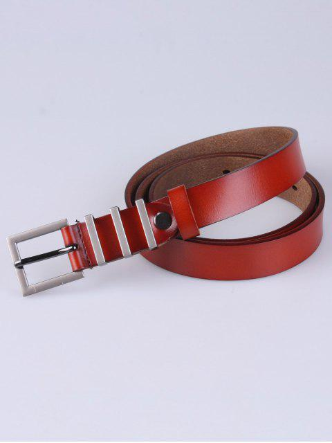 womens Alloy Pin Buckle Belt - DARK AUBURN  Mobile
