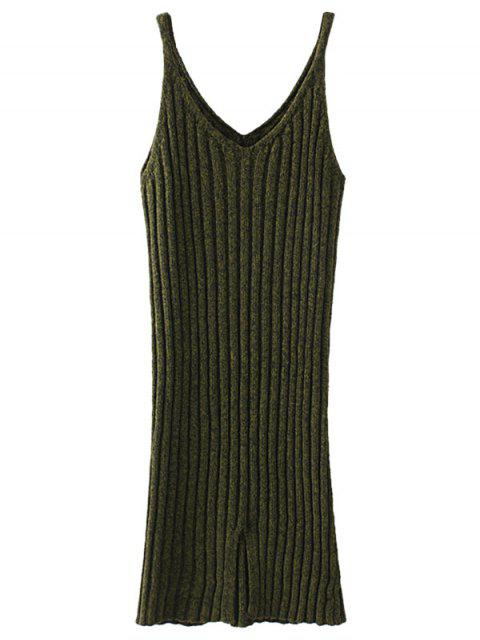chic Knitted Tank Dress - ARMY GREEN ONE SIZE Mobile